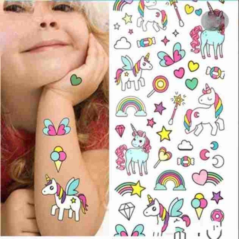 Cartoon Cute Kids Niños Animal Unicornio Caballo Etiqueta Engomada