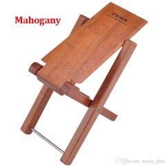 Classical Guitar Chair Wheel Seat Cushion Foot Rest Stool Pedal 4 Level Adjustable Height Mahogany Wood Material For
