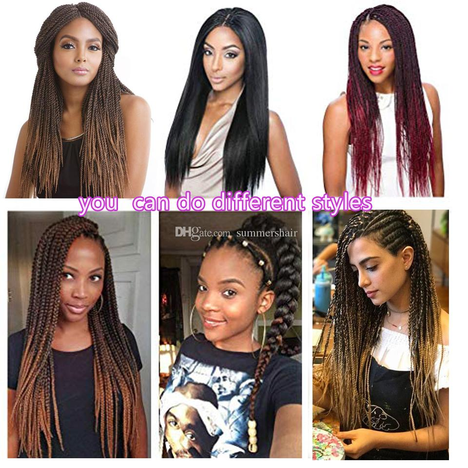 Hair Extensions & Wigs Jumbo Braids Sambraid Easy Braids Synthetic Hair Pre-stretched Ez Braid Ombre Crochet Braids Hair Extensions 24inch For Black Women