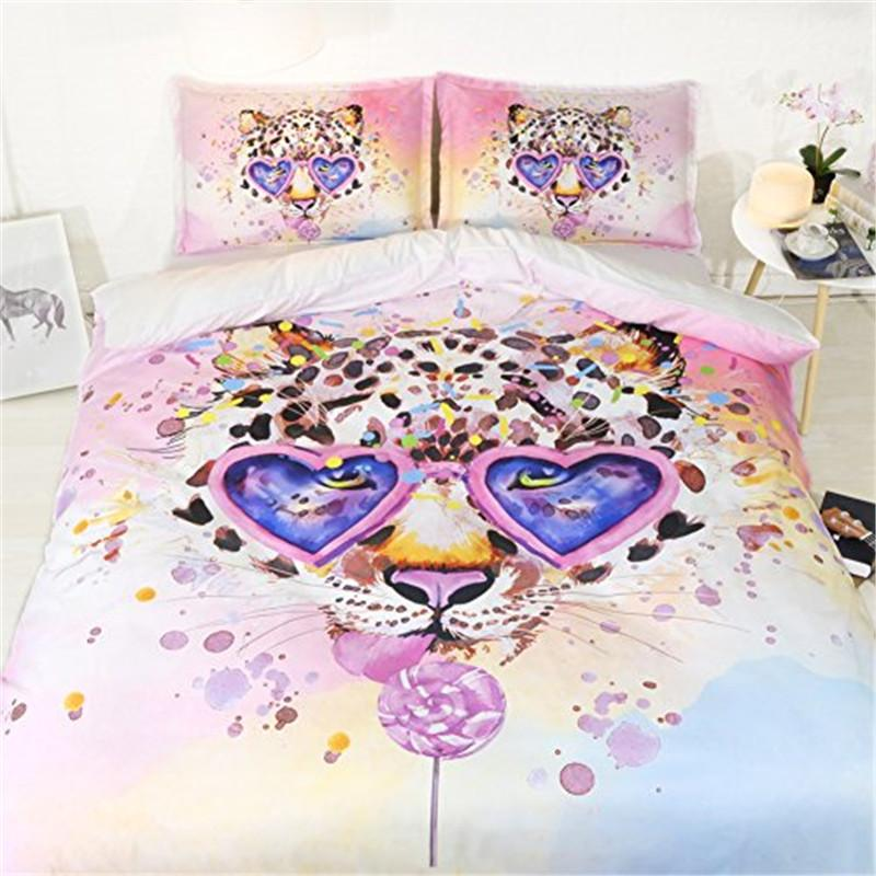 bed covers for girls pink leopard duvet