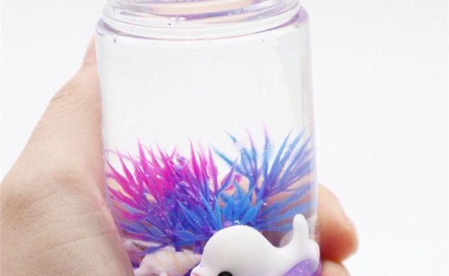 2020 Underwater World Slime Dolphin Seaweed Accessories