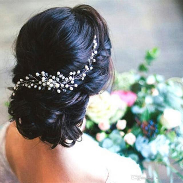 bride bridal hair comb wedding headwear pearl women jewelry hair accessories women girl headpiece headdress head decoration pin