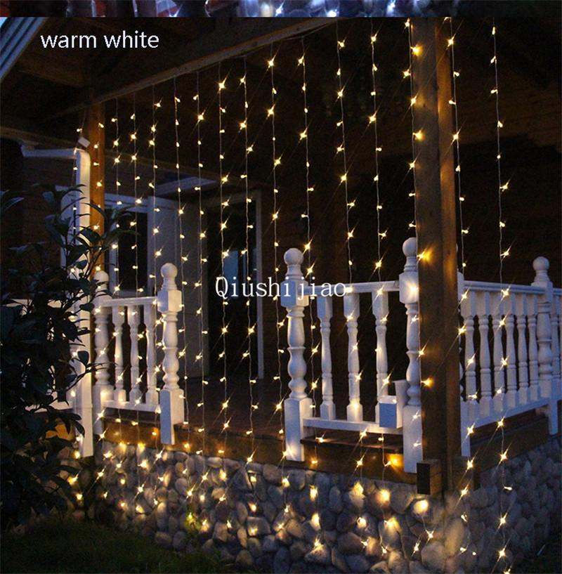 4mx3m 400 Led Fairy Icicle String Light Led Christmas Lights Wedding For Indoor Room Corridor Portal Window Curtain Light Led Decoration String Party Lights Outdoor Lantern String Lights From Qiushijiao 30 77 Dhgate Com