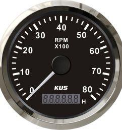 2019 kus marine tachometer gauge with hour meter boat rpm tachometer 8000rpm 12v 24v with backlight from elingparts 61 61 dhgate com [ 1140 x 1140 Pixel ]