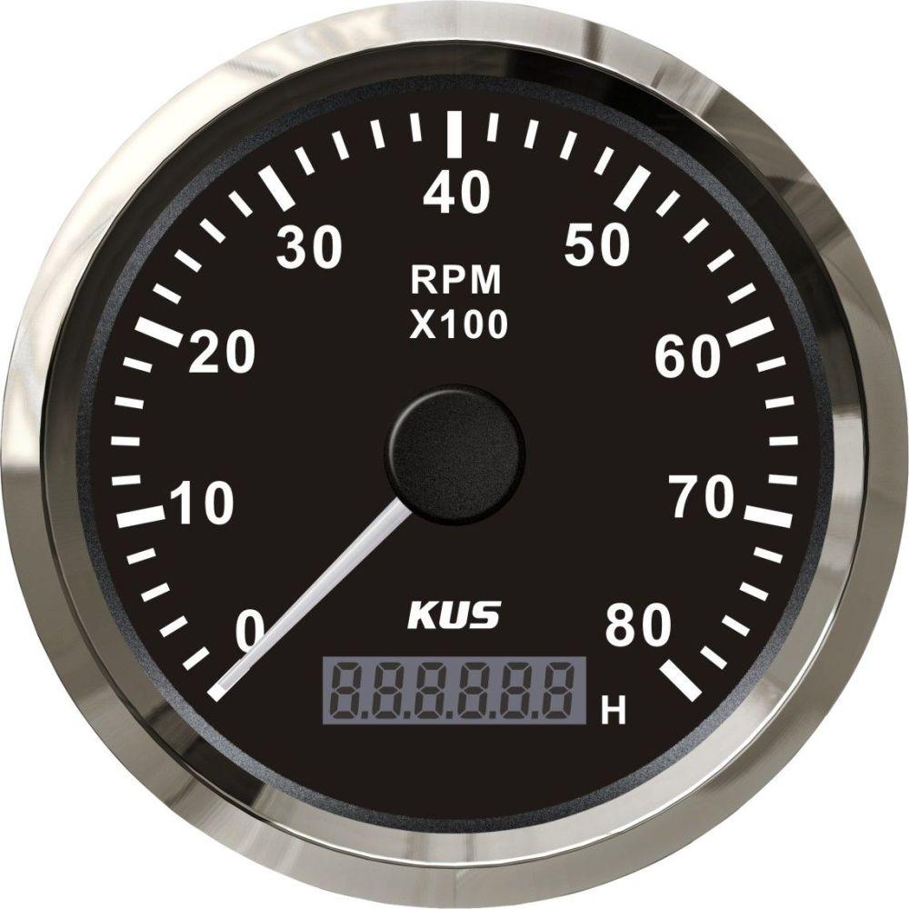 medium resolution of 2019 kus marine tachometer gauge with hour meter boat rpm tachometer 8000rpm 12v 24v with backlight from elingparts 61 61 dhgate com