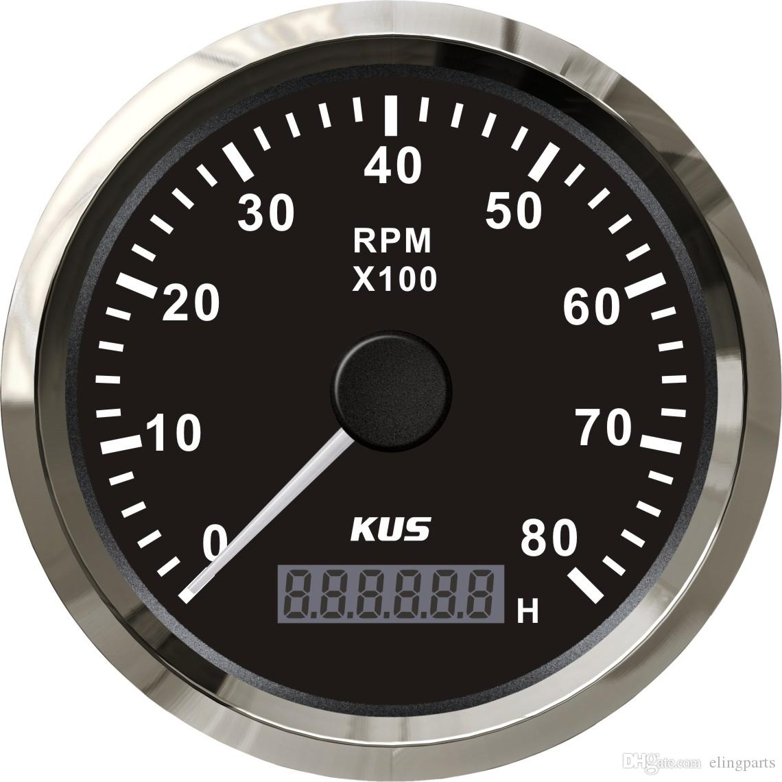 hight resolution of 2019 kus marine tachometer gauge with hour meter boat rpm tachometer 8000rpm 12v 24v with backlight from elingparts 61 61 dhgate com