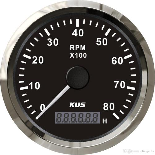 small resolution of 2019 kus marine tachometer gauge with hour meter boat rpm tachometer 8000rpm 12v 24v with backlight from elingparts 61 61 dhgate com