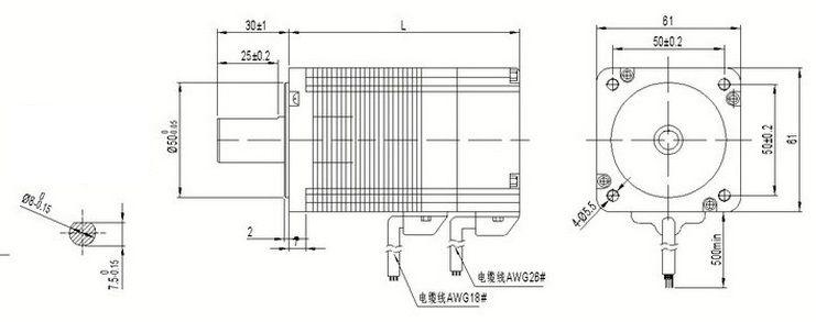 2020 60BL99 24V 3000RPM 200W 0.65NM Motor Length 99mm High