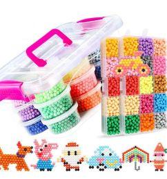 water aqua beads toys sticky perler beads pegboard set fuse beads jigsaw puzzle water magic bead beadbond educational kids toys wholesale novelty gifts  [ 900 x 900 Pixel ]