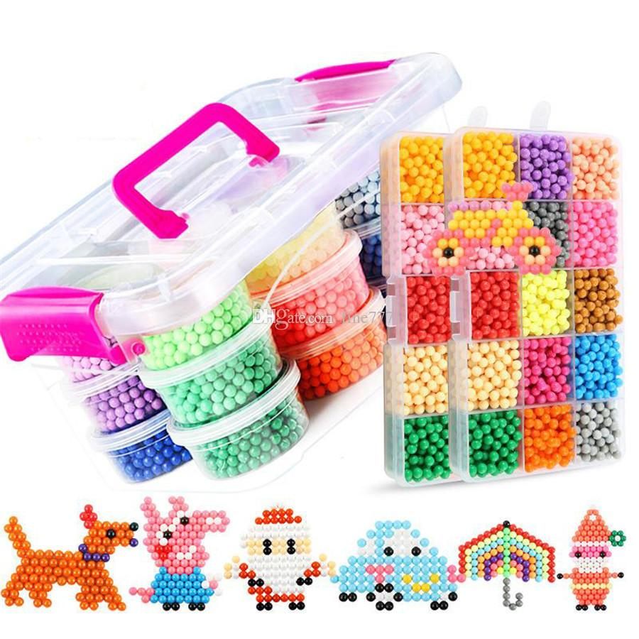 hight resolution of water aqua beads toys sticky perler beads pegboard set fuse beads jigsaw puzzle water magic bead beadbond educational kids toys wholesale novelty gifts
