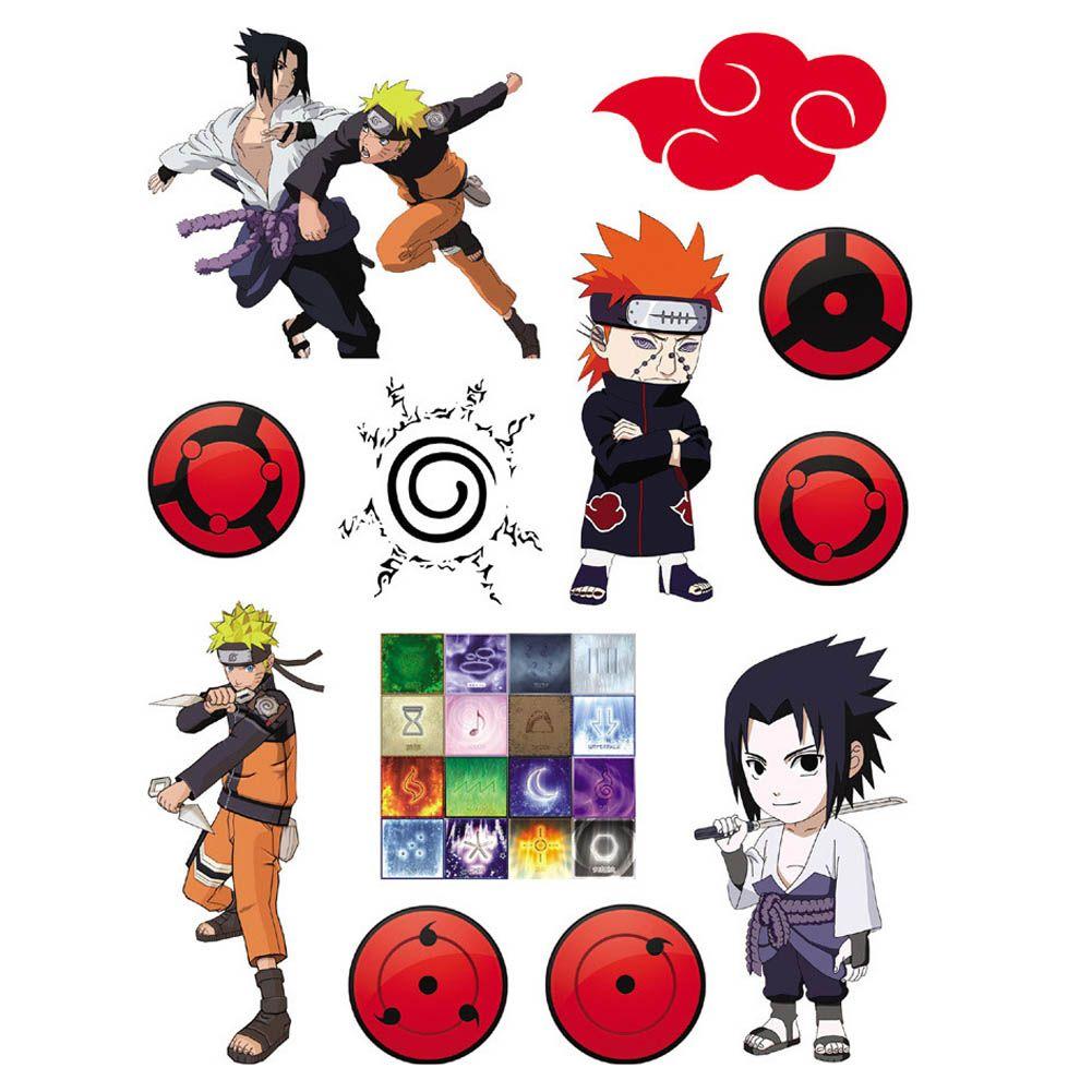 Naruto Impermeable Tatuajes Temporales Pegatinas Pegatinas