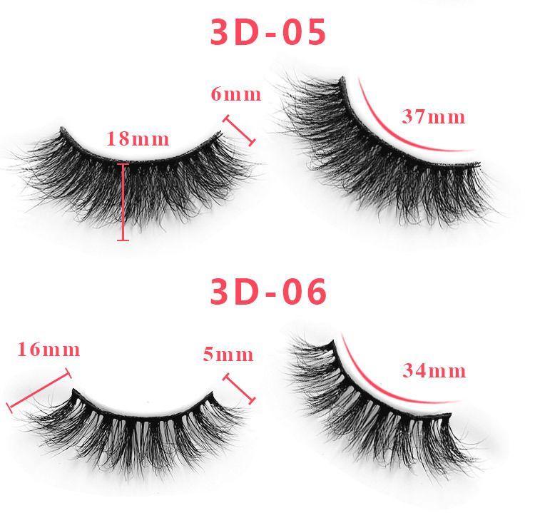 55 Styles Individual Mink Lashes 3D False Eyelashes