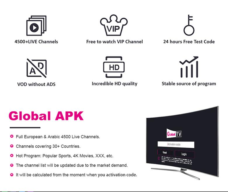 2019 IPTV Smarters Global IPTV Subscription Movie Sport