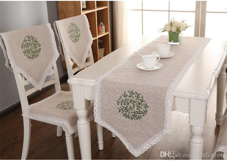 what type of fabric to cover kitchen chairs safari camp chair cotton and linen wedding covers seat bottom cushion with embroidery for home or decoration textile slipcovers sofa recliner