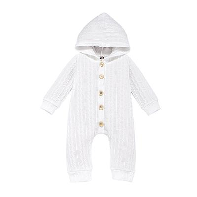 2020 Newborn Baby Solid Color Knitting Romper Toddler