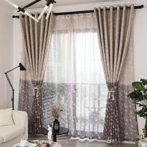 2019 Modern Floral Printed Blackout Curtains Living