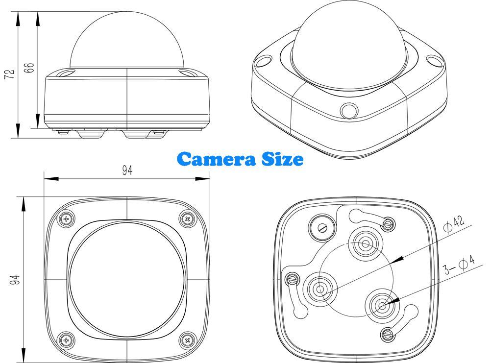 HD 2MP 1080P Security POE MINI Dome IP Camera Metal