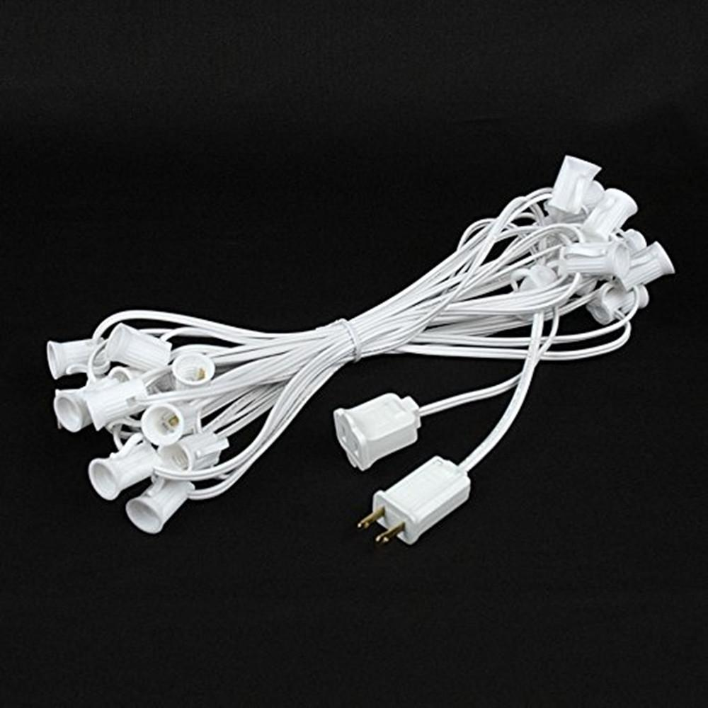 hight resolution of 2019 holiday string light wire 10m 20sockets 4m lead wire globe g40 string light cables christmas wedding outdoor garland waterproof eu plug from starmarket