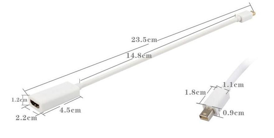 2020 *Mini Display Port DisplayPort DP Male To HDMI Female