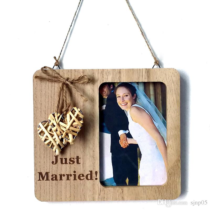 rustic wedding photo frame