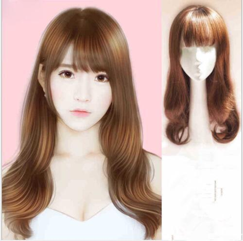 New Fashion European And American Wig Lady Long Curly Hair Dyed