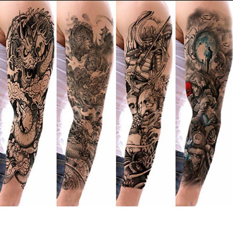 Diseños De Mangas De Tatuajes Brazo Completo Impermeable Tatuaje