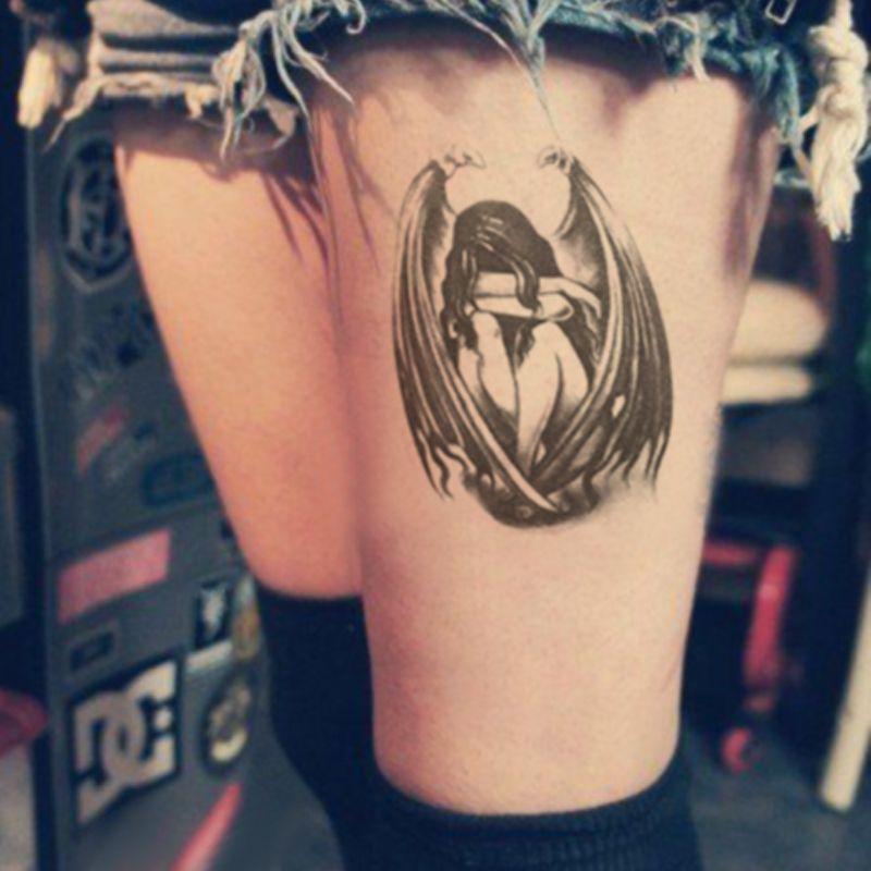 Impermeables Pegatinas De Tatuaje Temporales Lindos ángeles Caídos
