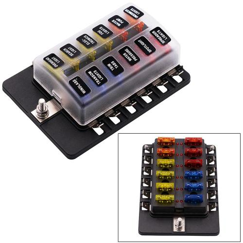 small resolution of 2019 12 way 12v 24v blade fuse box holder with led warning light kit for car boat marine trike cy883 cn from taopz 39 68 dhgate com