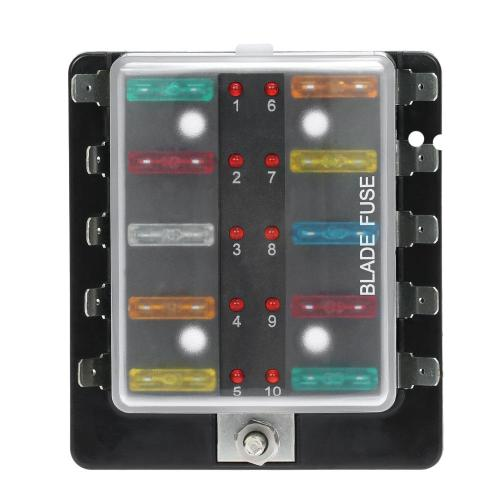 small resolution of 10 way blade fuse box holder with led warning light kit for car boat marine trike 12v 24v spare car parts spare part car from taopz 28 94 dhgate com