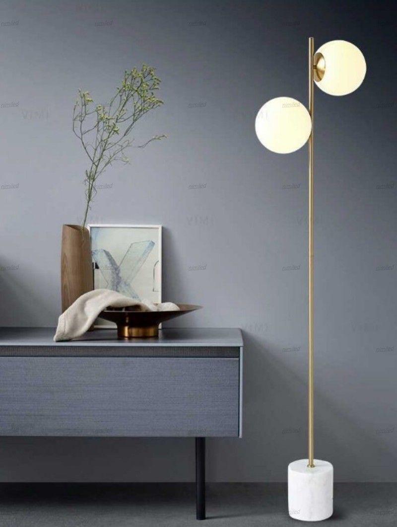 2020 Modern Floor Lamp 2 Head Glass Shade Living Room Standing Lamp Bedroom Floor Light For Home Lighting E27 6w Bulb Standing Lamp Llfa From Nimiled 361 23 Dhgate Com