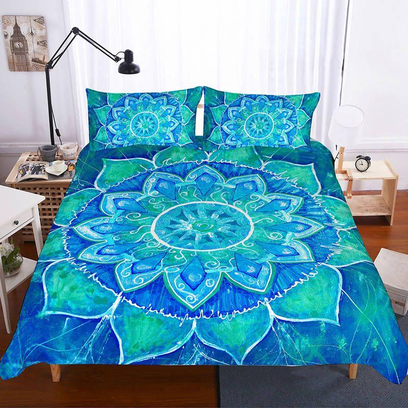 3d mandala bedding set