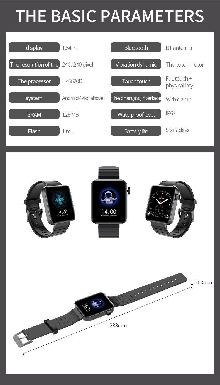 2020 New Style D8 Smart Watch Smart Band Ip67 Waterproof