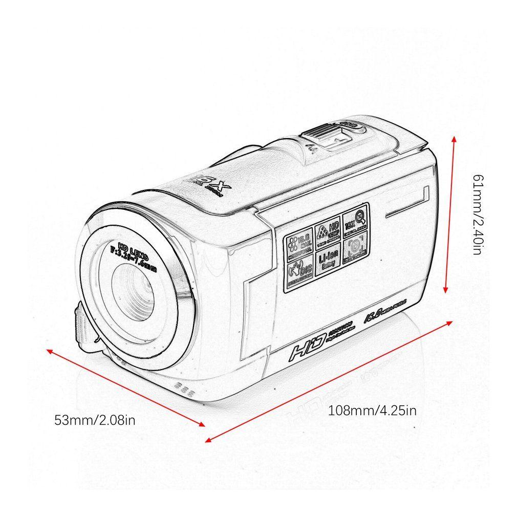 HD 1080P Digital Camera HDV Video Camera Camcorder 16MP