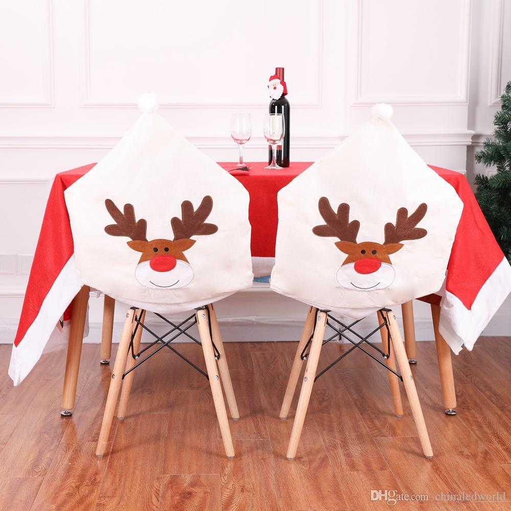 crochet christmas chair covers white wood dinner table cover decor sweet xmas elk online with 9 86 set on chinaledworld s store dhgate com