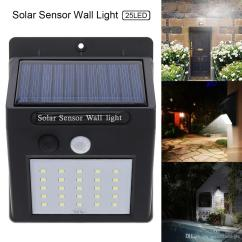 Wiring Diagram For Wall Lights 6w White Light Double Cob Led Switch Night Chevy 350 Ignition Coil 25 Solar Powered Motion Sensor Outdoor Waterproof Lighting Street Lamp Garden Courtyard Sol 007 Pir