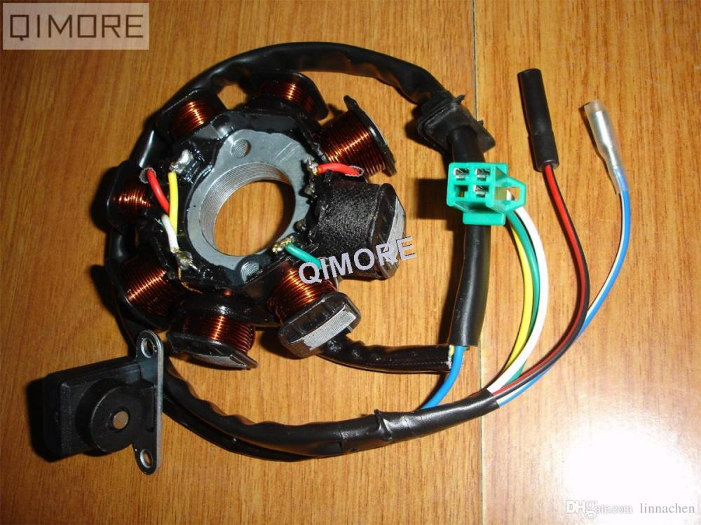 medium resolution of scooter moped atv go kart gy6 125 gy6 150 cc 152qmi 157qmj 8 pole 5 12 lead stator wiring diagram 8 pole stator wiring