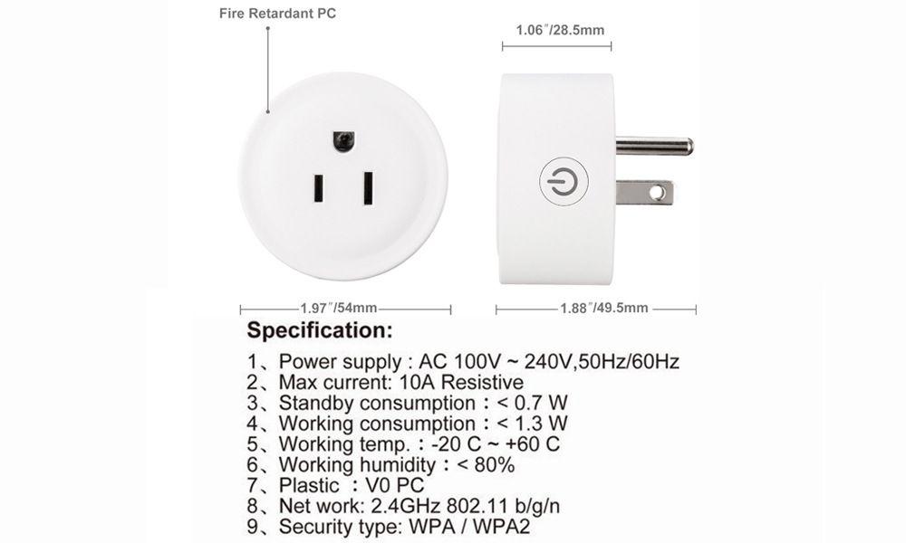 US Plug Phone RC Remote Wireless Control Wifi Smart Switch