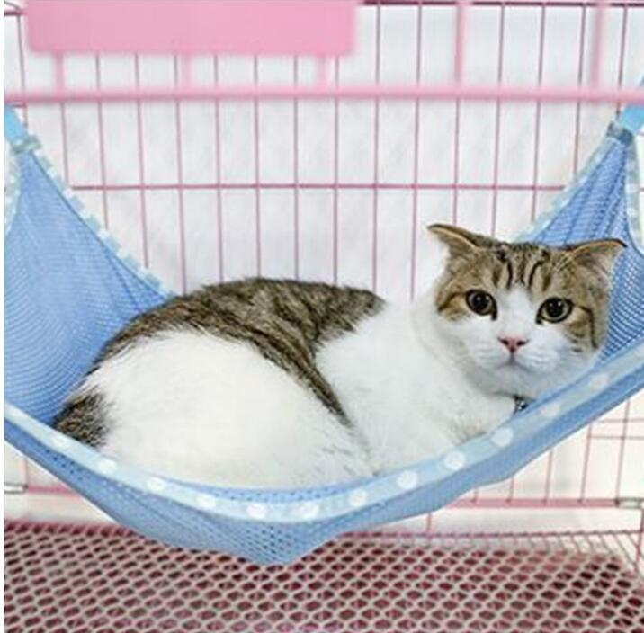 cat hammock under chair gold covers pet kitten hanging bed cage sleeping resting mesh hammocks 53 38cm playing carrier mats