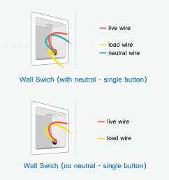 aqara light switch no neutral vs neutral version home wiring a light with no neutral [ 1000 x 1000 Pixel ]