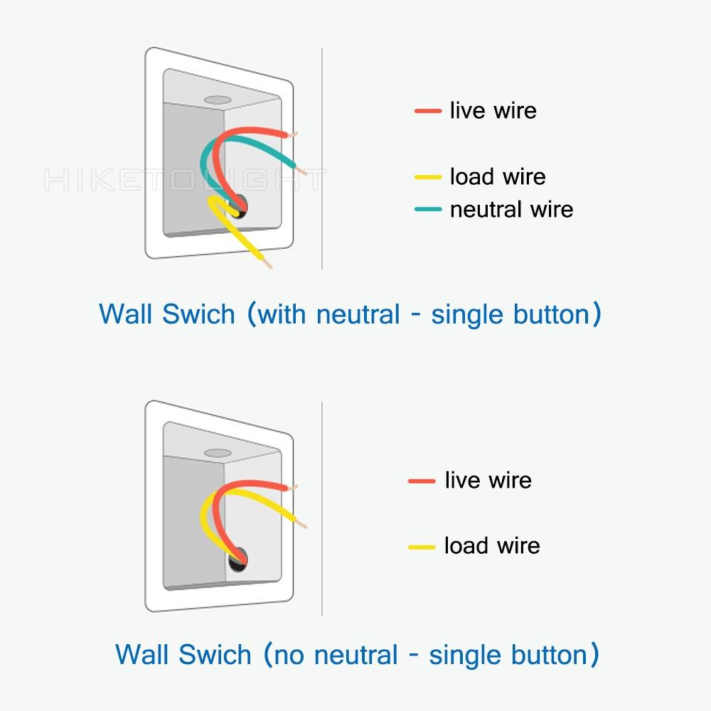 medium resolution of aqara light switch no neutral vs neutral version home wiring a light with no neutral