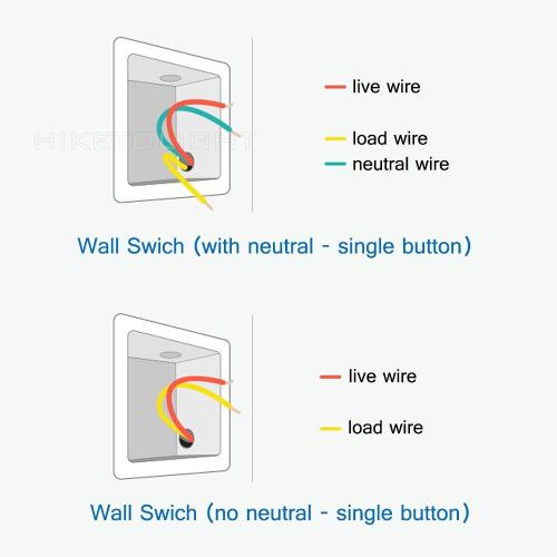 small resolution of aqara light switch no neutral vs neutral version home wiring a light with no neutral