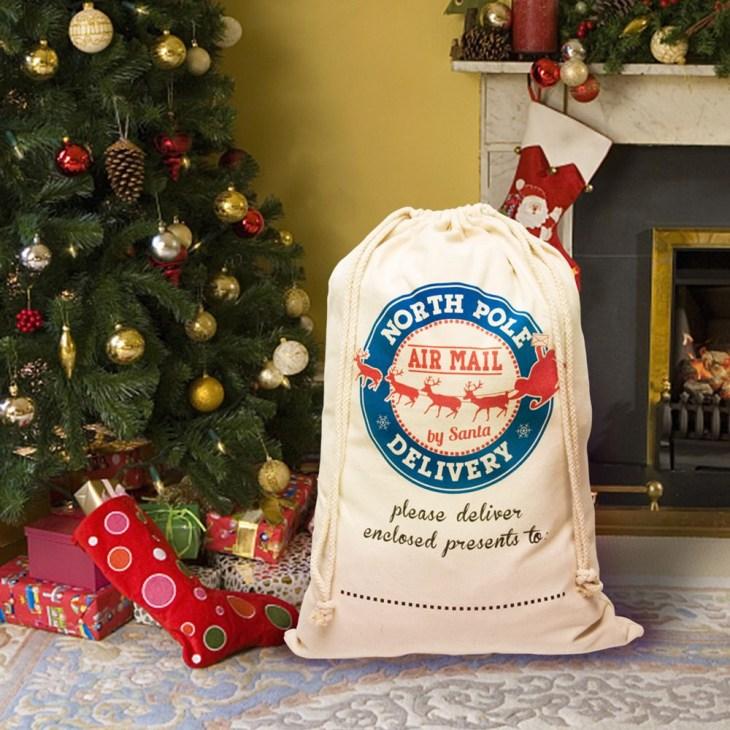 Postmark Canvas Drawstring Christmas Sack Wholesale Blanks Cotton Delivery  Santa Gift Collection Bag Christmas Bag DOM1061067 Christmas Outdoor  Decorations ...