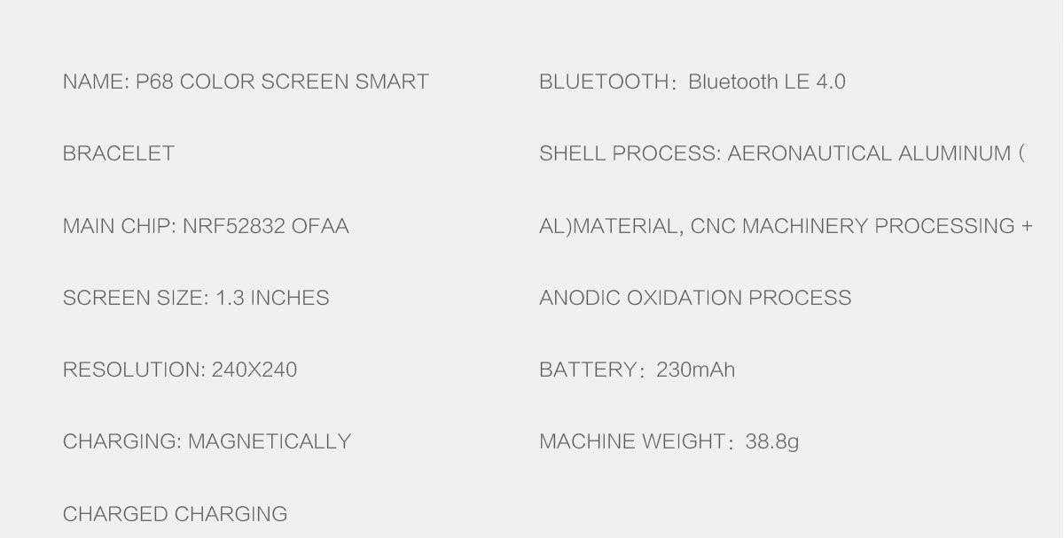 Celulares En Venta P68 38 Mm Smart Watch IP68 Resistente
