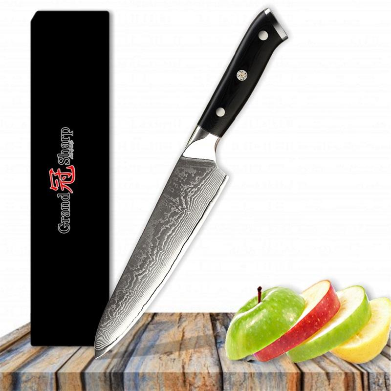 damascus kitchen knives maid mixer 8 inch chef knife 67 layers japanese stainless steel vg 10 core g10 handle with gift box grandsharp canada 2019 from