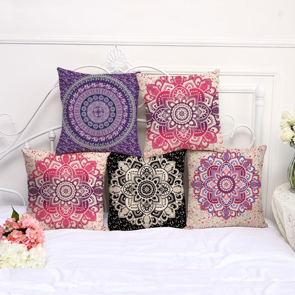 retro floral designs pillow