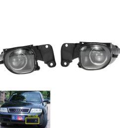 for audi a6 c5 1998 2001 auto fog light lamp car front bumper grille driving lamps fog lights set kit 4b0941699a 4b0941700a car fog lamps car fog lamps  [ 1000 x 1000 Pixel ]