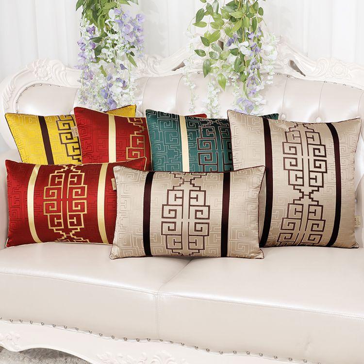 luxury christmas chair covers arm dunelm high end decorative cushion for sofa lumbar pillow back chinese silk satin cover 30x50cm porch cushions