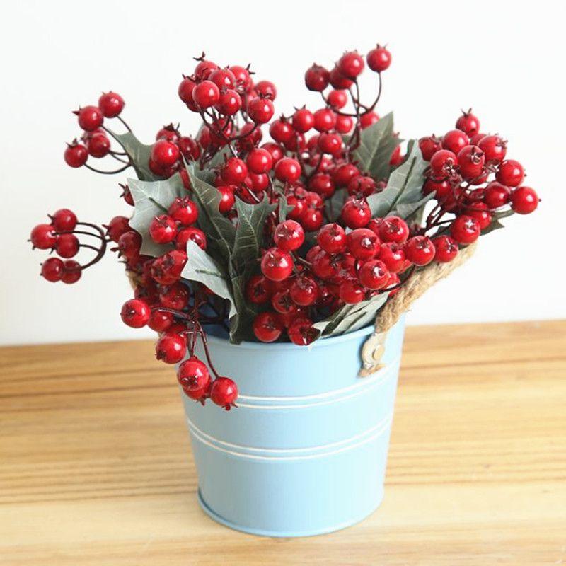 christmas berries poinsettia artificial