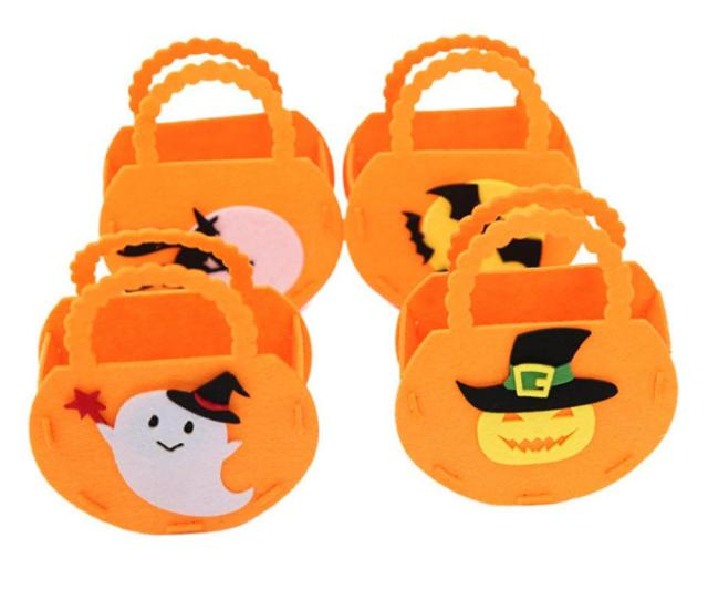 Pumpkin Hand Bag Halloween Party Decorations Childrens Trick Candy Bags Halloween Gifts Bag Pumpkin Halloween Supplies Christmas Decoration Halloween