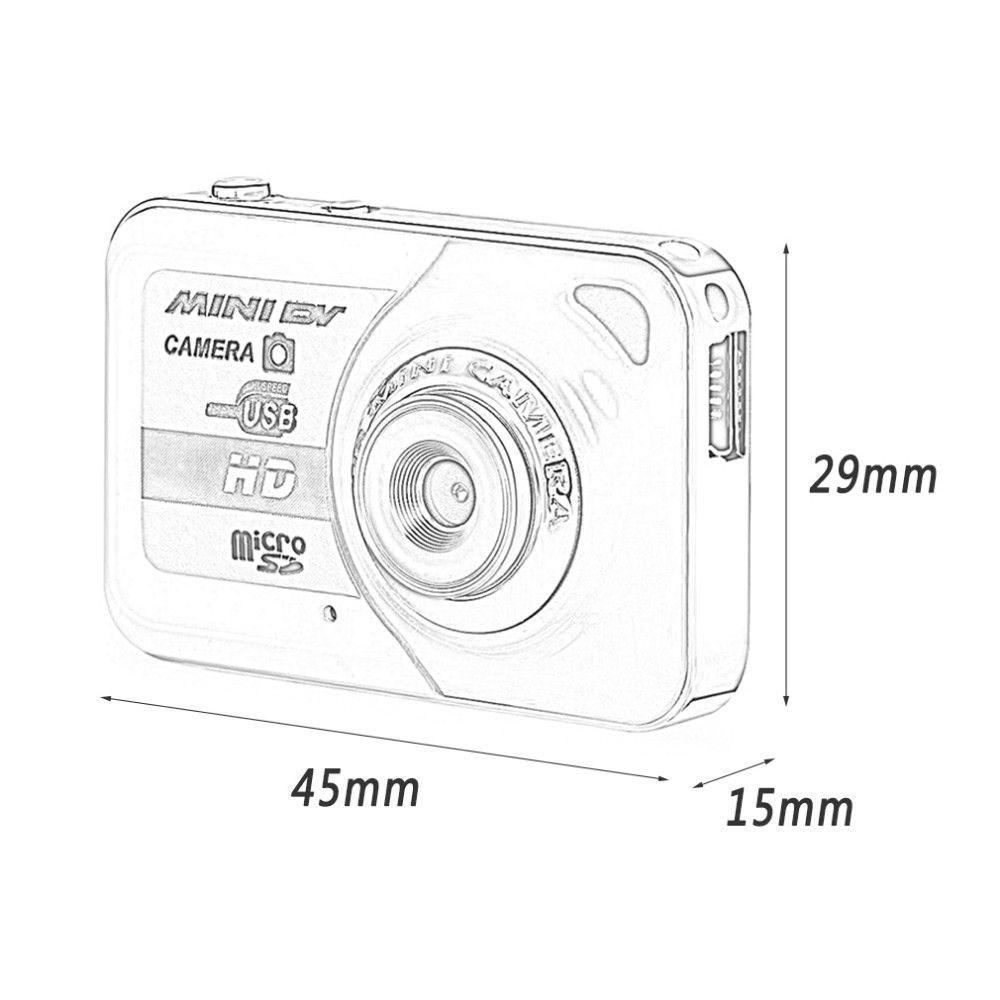 Portable X6 Digital Camera Ultra HD Mini Camera 32GB TF